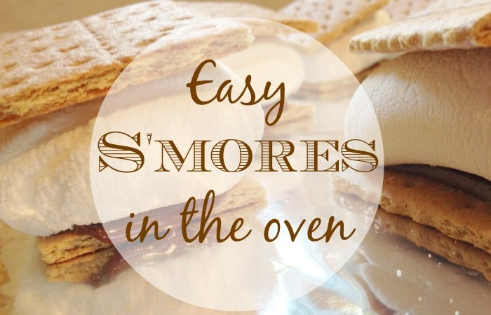 Easy S'mores in the Oven