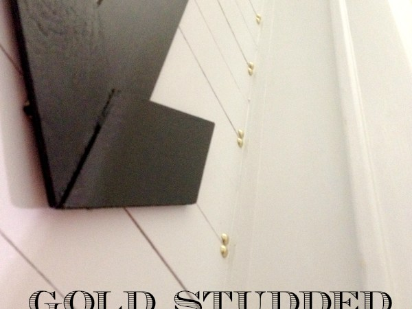 Gold Studded Plank Wall