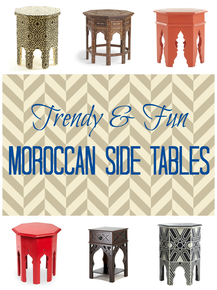 Moroccan Side Table Roundup