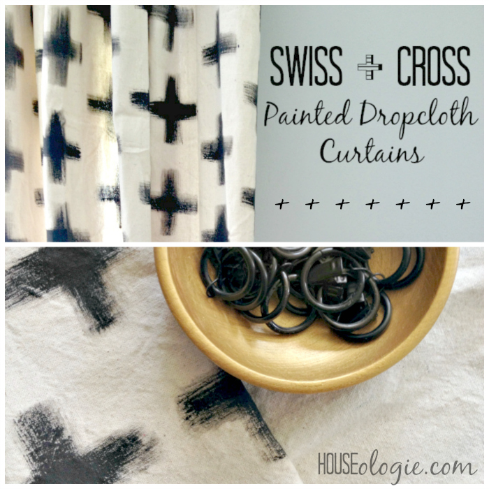 Swiss Cross Painted Curtains graphic