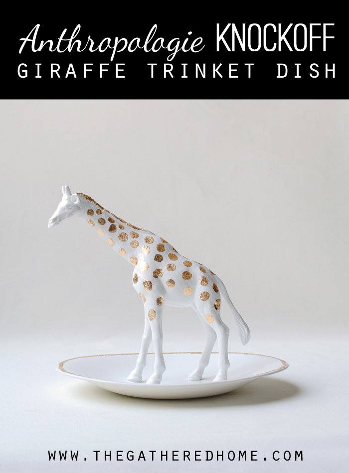 anthropologie knockoff giraffe trinket dish