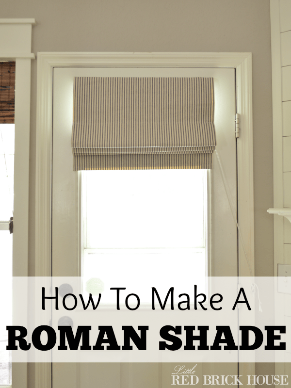 How To Make A Functioning Roman Shade Houseologie