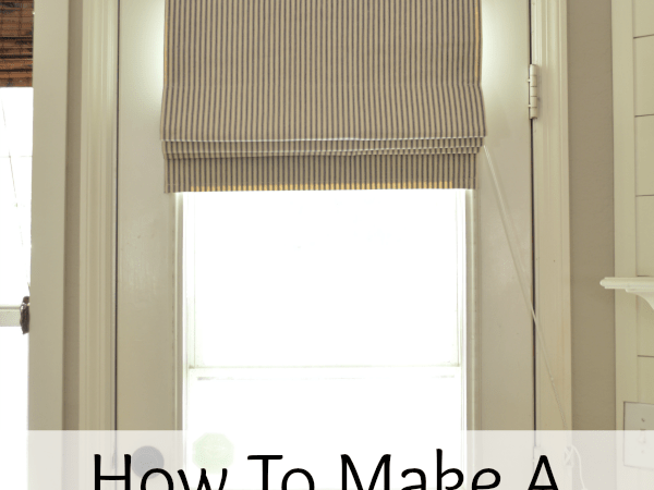 How To Make A Functioning Roman Shade