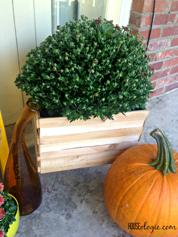 Wood and Copper Planter 1