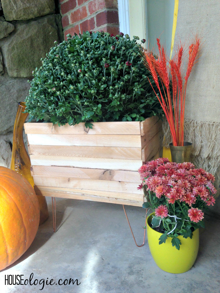 Wood and Copper Planter 5