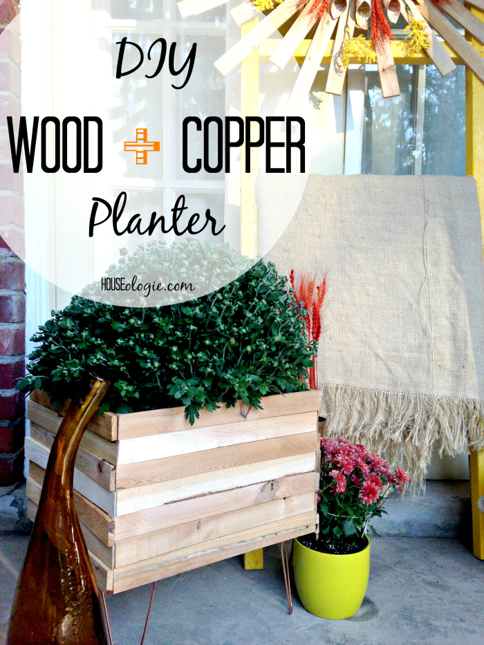 Wood and Copper Planter