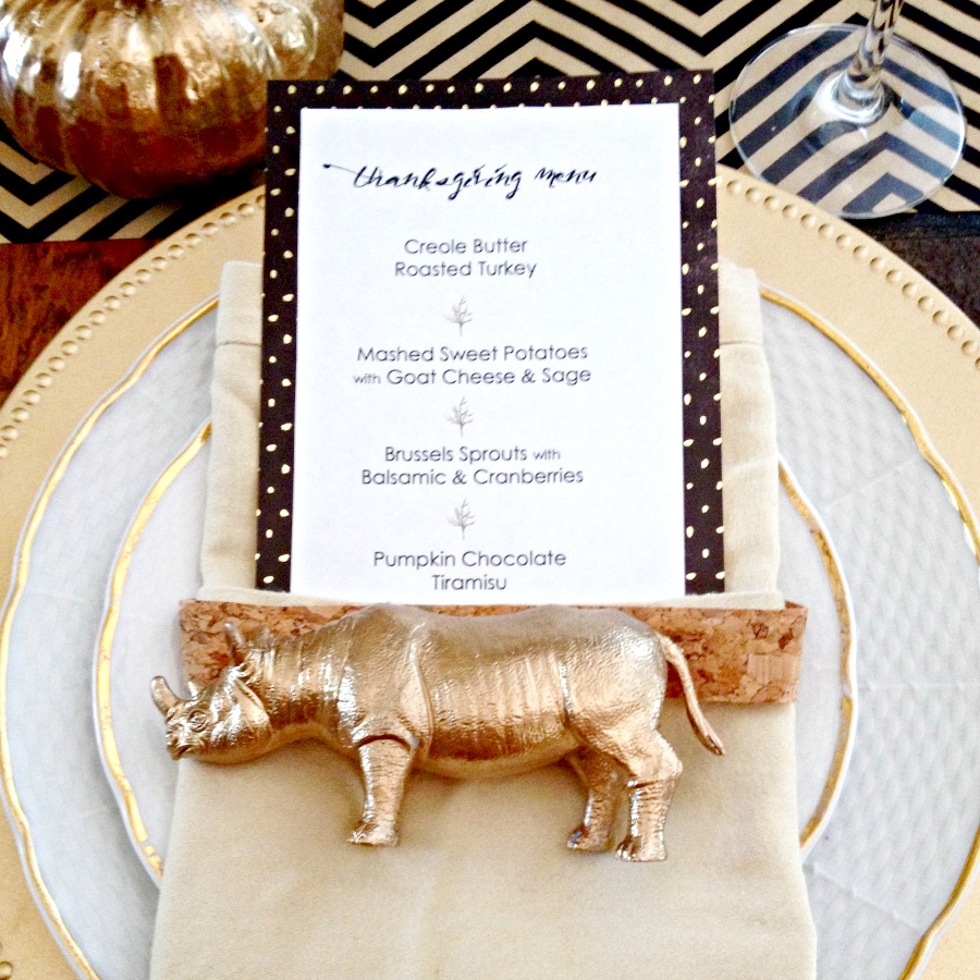 gold thanksgiving table setting