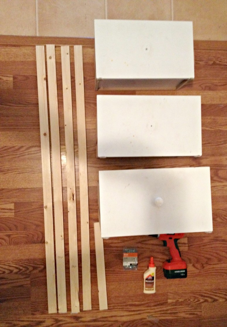 DIY Ladder Shelf Pieces