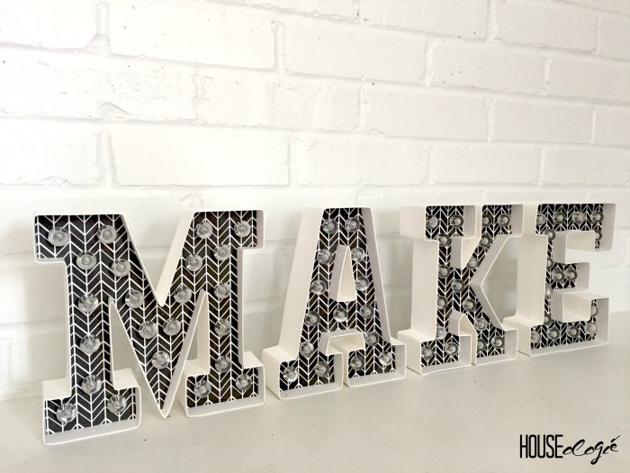 Easy Marquee Letters 6