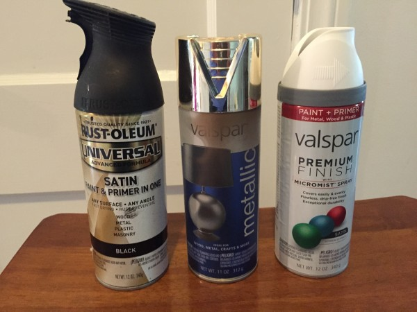 Spray Paint for Lamp Makeover