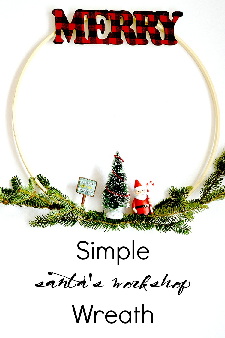 Simple Santa's Workshop Wreath