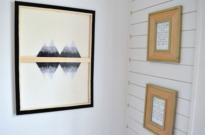 Make your own Minimal Mountain Canvas Art