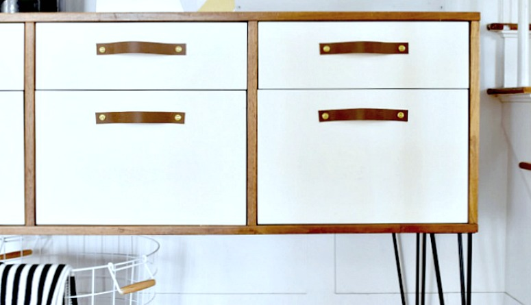 Painted Two-Toned Dining Room Credenza