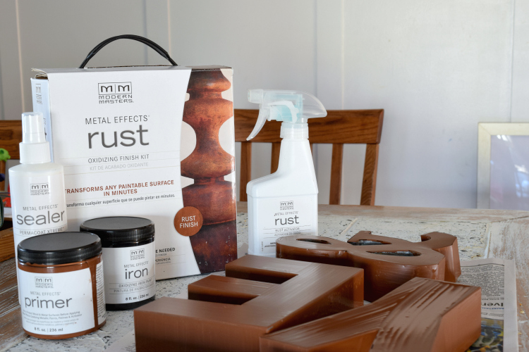 Did you know you can rust any paintable material in a few easy steps?!