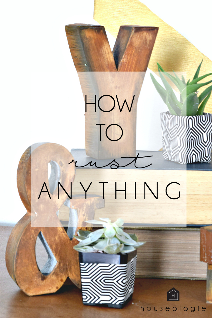 Learn how to EASILY rust any paintable surface!