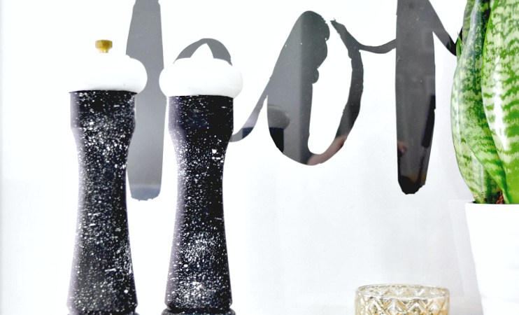 DIY Speckled Salt + Pepper Shaker
