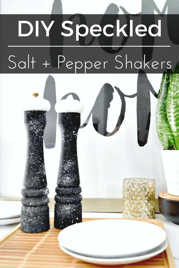 Turn your salt + pepper shaker into fun little accessories using paint!