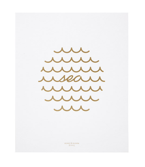 This Sea print would be so cute in a child;s bedroom or even a bathroom. Adorable!