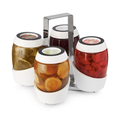 I LOVE canning and I would love it even more with this modern set of canning jars. So cool!