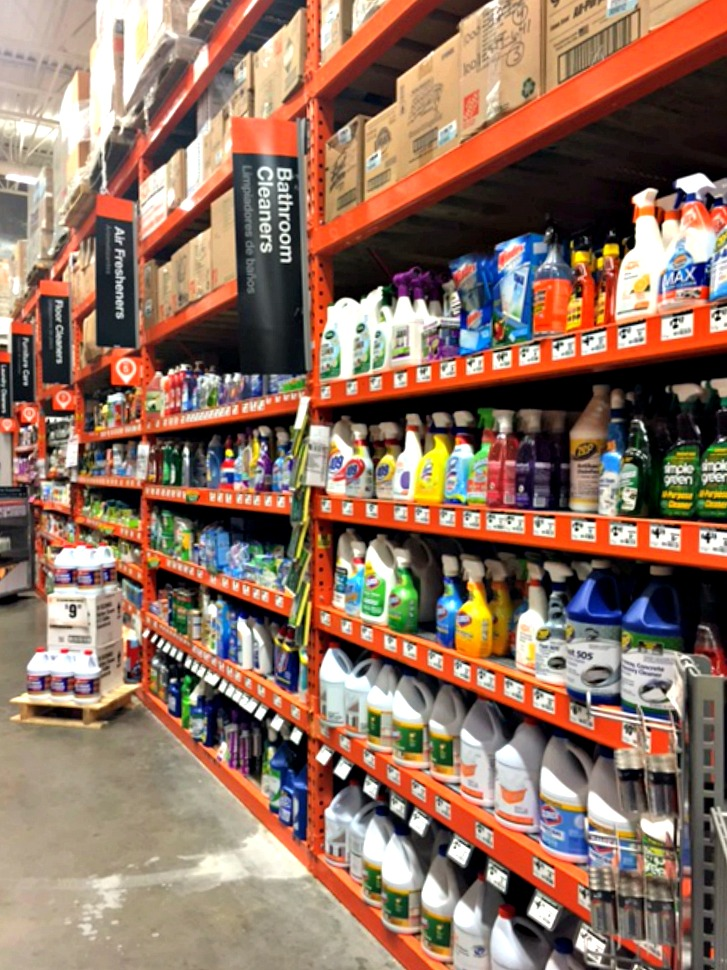 Love the Cleaning Aisle at Home Depot