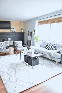 An Incredible living room transformation done on a small budget!