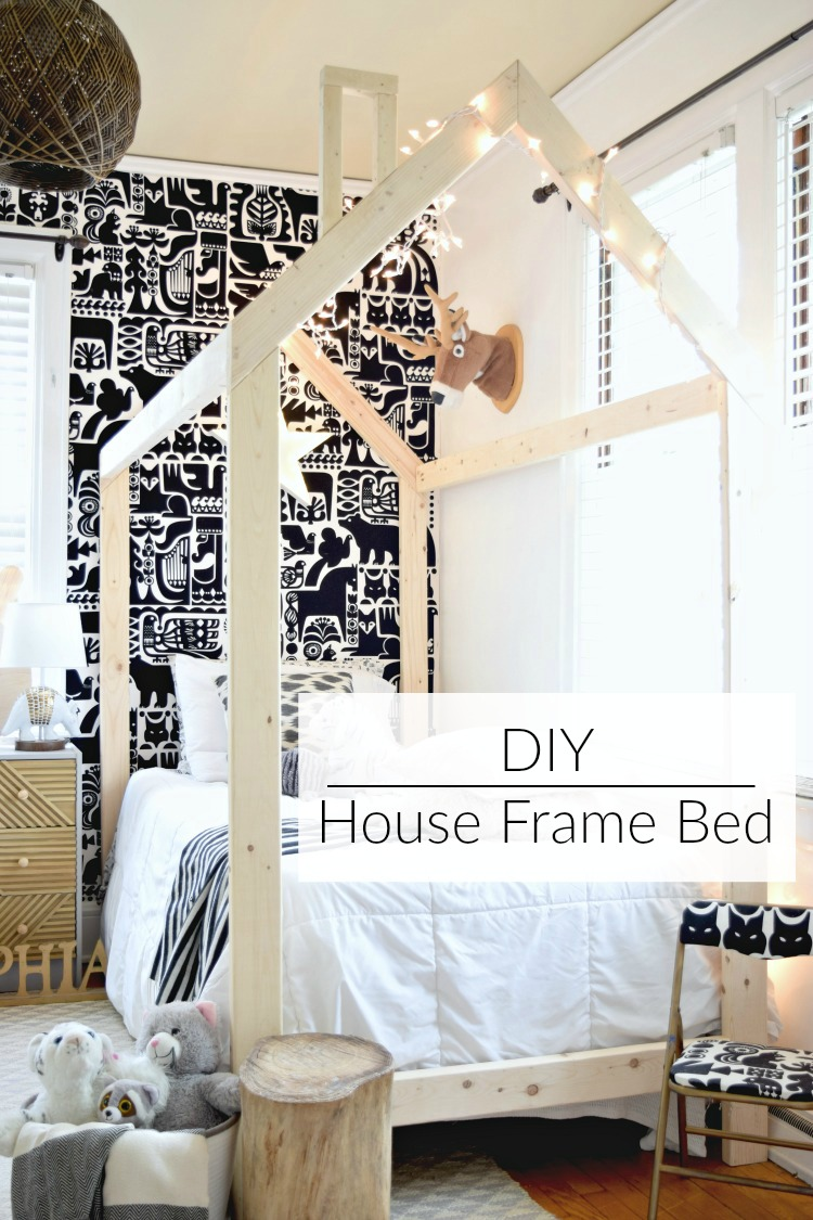 Scandinavian style DIY Twin House Frame Bed
