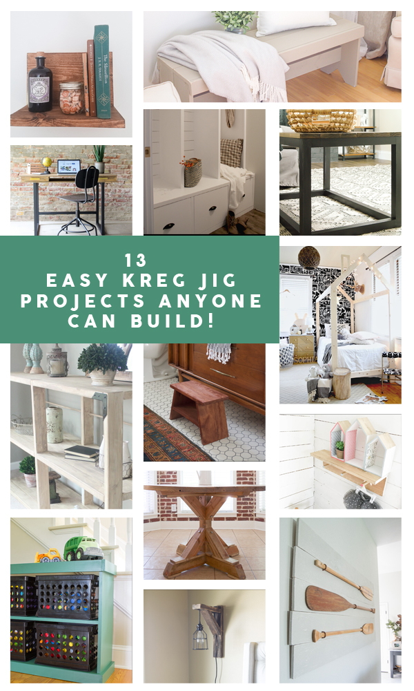 13 Easy Kreg Jig projects anyone can build!