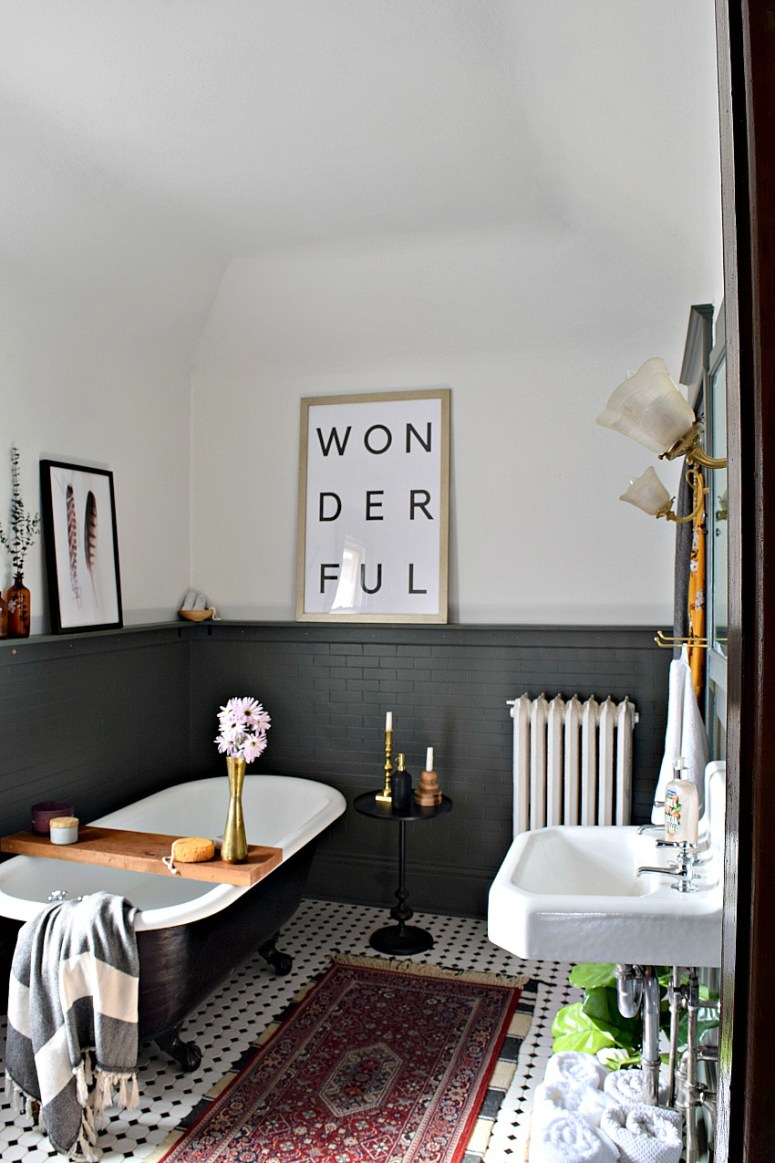 A Victorian bathroom that needs updating get a budget bathroom makeover.