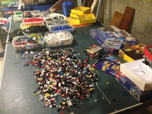 The Sorting of the Legos...it's a little like the crushing of the grapes.