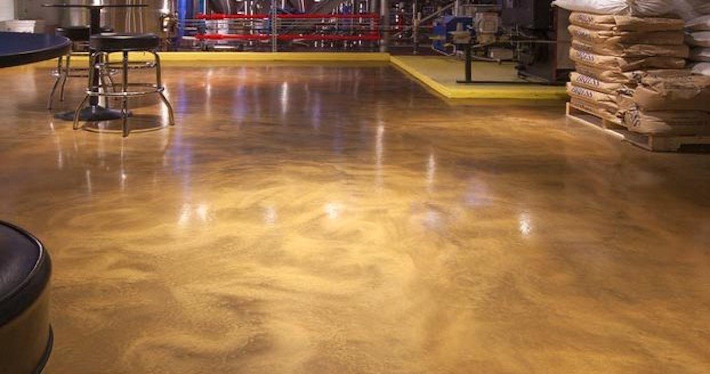 coat concrete flooring with epoxy