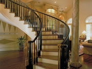 Staircases Staircase Designs – House Plans And More   Grand Staircase House Plans   Curved Staircase   3 Car Garage   Acadian Home Interior   Single Story   1800 Square Foot