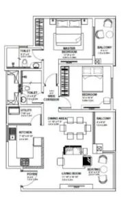 2 BHK SPACIOUS HOUSE PLANS
