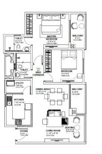 2 BHK SPACIOUS HOUSE PLANS