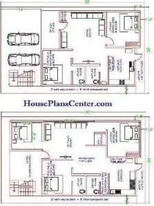 30x50 house plan op2 Ground floor and first floor plan