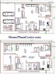 30x50 house plan op2 Ground floor and first floor plan