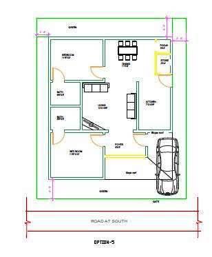 40x40 house plan options 2 BHK house plan designed to Mr Pani, Hyderabad