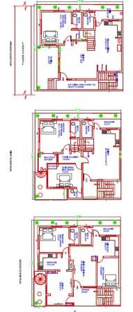 40x40 house plan duplex house and 2nd floor for rental plan