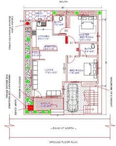 North face 30x40 Plot House plan as per vastu