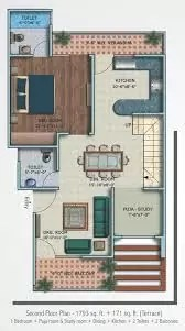 1BHK PLAN 3D VIEWS