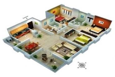 2 BHK LUURY HOUSE PLAN design