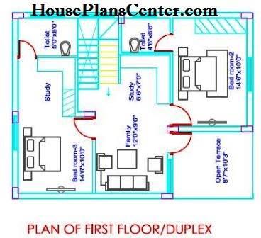 25x35 house plans Duplex FF