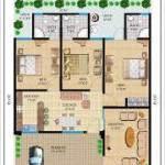 3 BHK HOUSE PLANS 3D IMAGES