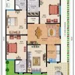 3BHK 3D FLOOR PLANS MODERN HOUSE PLANS IN