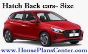 hatch back cars parking size