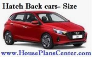 hatch back cars parking size