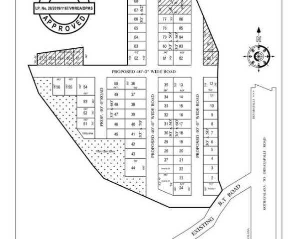 RESIDENTIAL LAYOUT PLOTS DESIGN AT DODDABALLAPURA, BANGALORE