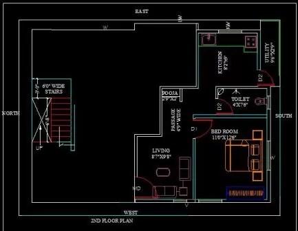 30x40 house plan terrace floor 212