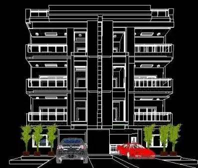 40x40 Apartment 2d elevation