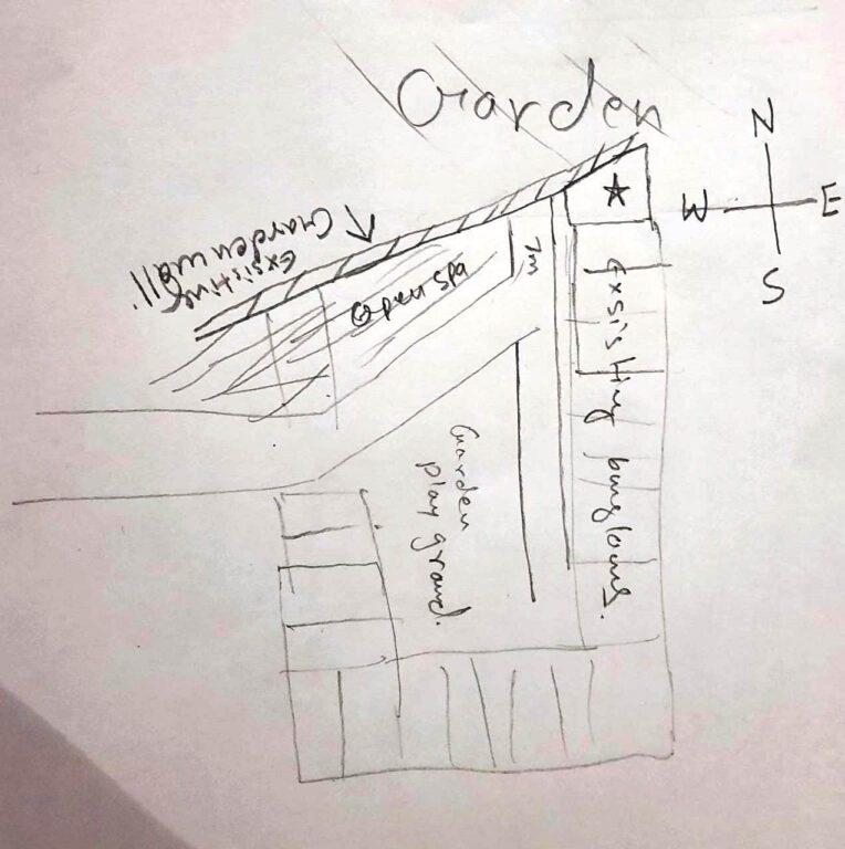 Trapezoidal shape plot house plan- delivered
