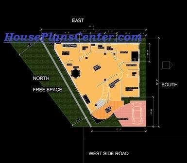 uneven shape plots house plans